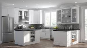 Elgin Pantry Cabinets In White Kitchen The Home Depot