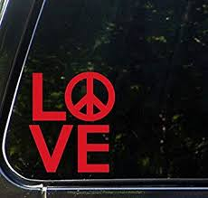 Amazon Com Bd Usa Love Sculpture With Peace Sign Car Vinyl Decal Sticker 4 W X 4 5 H Red Automotive