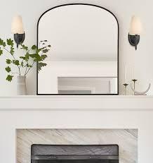 mantel metal framed mirror