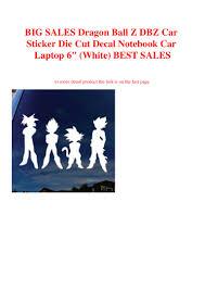 Big Sales Dragon Ball Z Dbz Car Sticker Die Cut Decal Notebook Car La