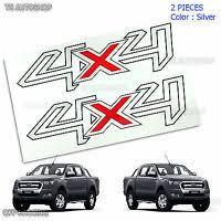 Pair Set Sticker Decals 4x4 Black Red For Ford Ranger T6 Ute Pickup 2012 2018 Ebay