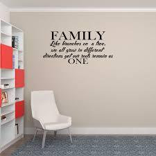 Family Wall Decal Family Like Branches On A Tree Decal Sticker Decor Wall Art Walmart Com Walmart Com