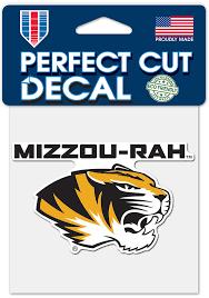 Missouri Tigers 4x4 Auto Decal Black 5718774