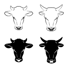 Bull Cow With Horns Silhouette Animals Cattle Car Decal Sticker
