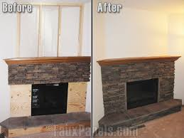 faux stone panels for fireplace are an