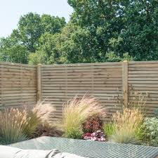 Forest Pressure Treated Contemporary Double Slatted Fence Panels