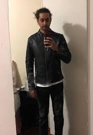 allsaints leather jacket too big