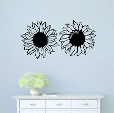 August Grove Sunflowers Vinyl Words Wall Decal Wayfair