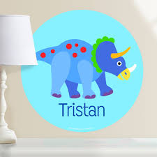 Dinosaur Triceratops Personalized Wall Dotz Decal Art Appeel