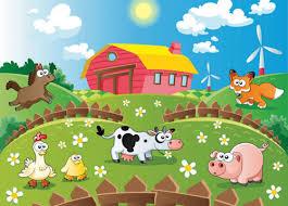 Kids Room Wall Mural 254x183cm For Baby Bedroom Animals Farm Photo Wallpaper Home Garden Wallpaper Rolls Sheets