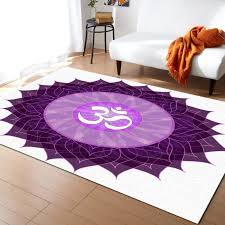 Mandala Meditation Purple Flower Carpets For Living Room Bedroom Area Rug Kids Room Play Mat 3d Printed Home Large Carpet Commercial Grade Carpet Shaw Carpeting From Galry 94 35 Dhgate Com