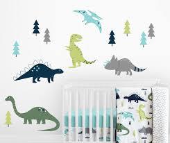 Full Colour Dinosaur Wall Art Modern Transfer Pvc Decal 3d Window Sticker Home Garden Children S Bedroom Boy Decor Decals Stickers Vinyl Art