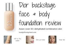 dior backse face and body foundation