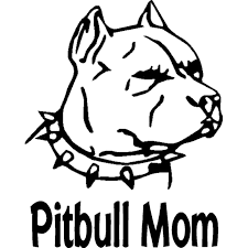 10 3cm 12 7cm Pitbull Mom With Pitbull With Spiked Collar Vinyl Dog Pet Animals Car Sticker Car Decals Black Sliver C8 1091 Decal Vinyl Decal Joedecals For Cars Custom Aliexpress