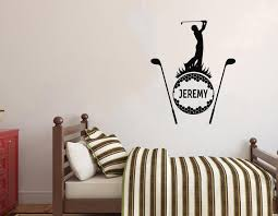 Golf Wall Decal Golf Wall Sticker Golf Wall Decor 2272 Etsy