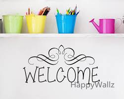 welcome home family quote wall sticker family welcome quote wall