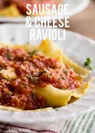 italian sausage and cheese ravioli