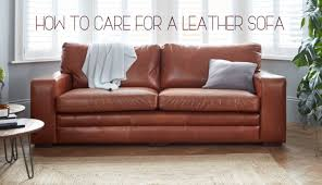 how to care for a leather sofa