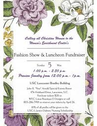 fashion show and luncheon fundraiser