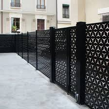 Garden Fence France Resille With Panels Aluminum Stainless Steel
