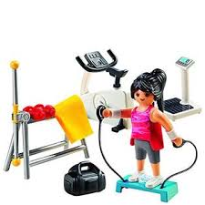 Playmobil City Life Fitness Room Play Set For Kids 4 10 5578
