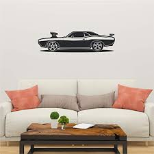 Amazon Com Car Wall Decal Car Wall Sticker Car Wall Art Multiple Sizes Wall Stickers For Kids Wall Decals For Bedroom Basement Wall Decal Game Room Wall Decal Wall Decals For Kids Rooms