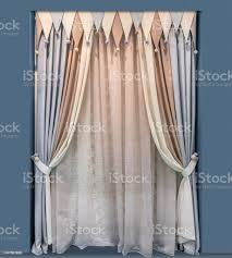 Modern Design Of The Interior Of The Childrens Room With Elegant Curtains Of Multicolored Fabrics With Lambrequin In The Form Of Triangles Stock Photo Download Image Now Istock