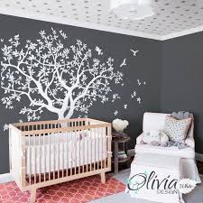 Lage White Family Tree Vinyl Wall Decal With Bird Stickers Etsy
