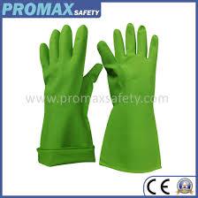 unlined green nitrile household gloves