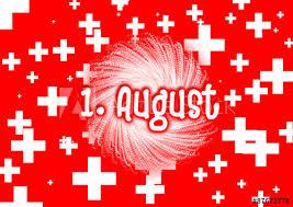 1. August / Schweizer Nationalfeiertag mit Feuerwerk und Text ...