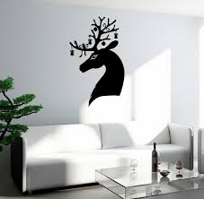 Wall Decal Christmas Deer Head Antler Elk Vinyl Sticker Ed2057 Wallstickers4you