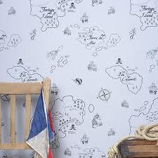 pirate seas wallpaper by hibou home