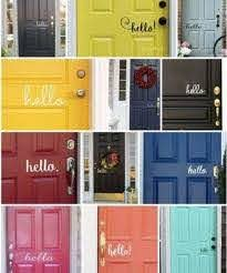 Hello Vinyl Decal Traditional For Front Door Or Wall For Sale Online Ebay