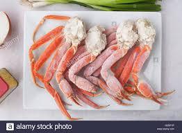Frozen King Crab Legs on Platter Stock ...