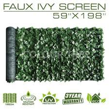 Artificial Hedges Faux Ivy Leaves Fence Privacy Screen Panels Decorative Trellis 59 X 198 Colourtree