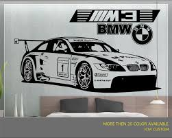 Jcm Custom Bmw M3 Gt2 M Power Racing Car Removable Wall Vinyl Decal Sticker For Sale Online