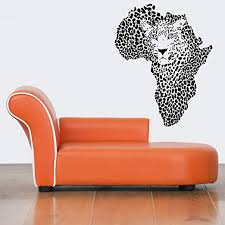 Amazon Com Stickersforlife Wall Decor Vinyl Sticker Room Decal Art Cool Leopard Wild African Map Continent Country Spots 796 Home Kitchen