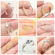 whole ss 925 ring settings pearl