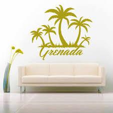 Palm Tree Wall Decal Uk Gold White Beach Art 3d Large Black Vamosrayos