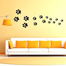 acrylic mirror dog cat paw print wall