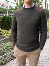 pure wool men s sweater in heather deep