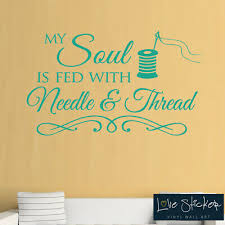 Wall Stickers Sewing Seamstress Needle Hobby Quote Art Decals Vinyl Home Room Ebay