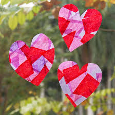 tissue paper suncatchers kids crafts