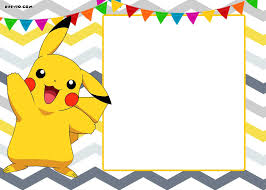 Free Printable Pokemon Invitation Templates Pokemon Party