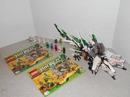 USED LEGO NINJAGO 4-HEADED ULTRA DRAGON WITH 12 MINIFIGS & MANUALS (LEGO  #9450)
