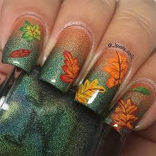 15 best autumn leaf nail art designs