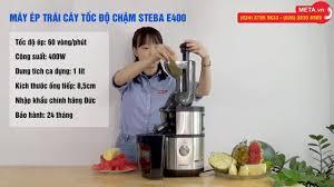 Review máy ép trái cây tốc độ chậm Steba E400 nhập khẩu từ Đức, giá tốt nhất  - YouTube