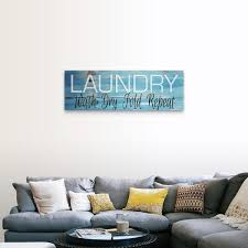 Shop Laundry Wash Dry Fold Repeat Canvas Wall Art Overstock 27623515