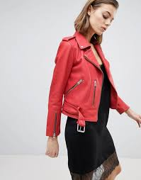 allsaints belted leather jacket fully
