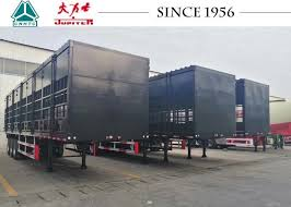 3 Axle High Side Wall 2500mm Fence Trailer For Gabon